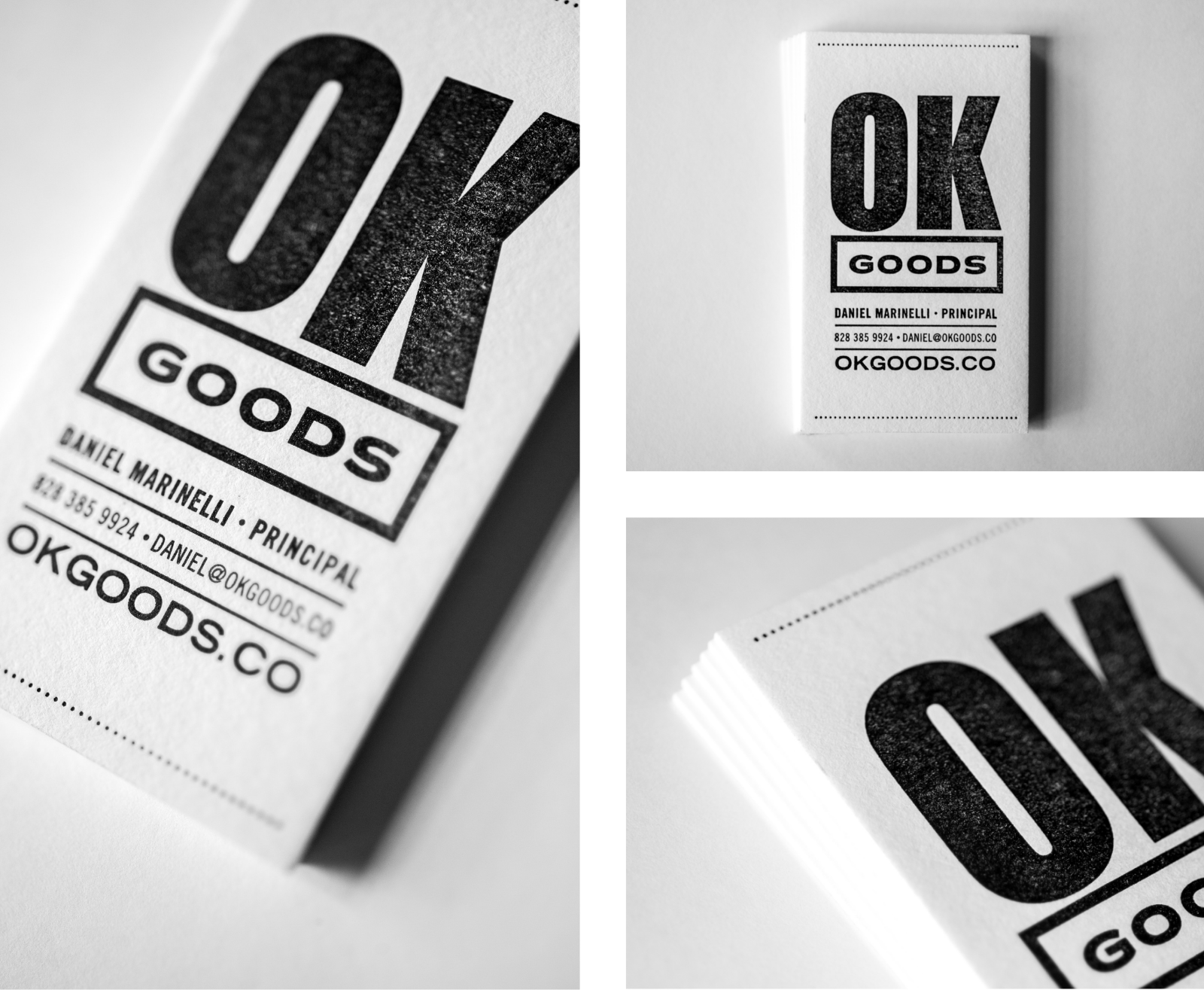 ok goods business cards web